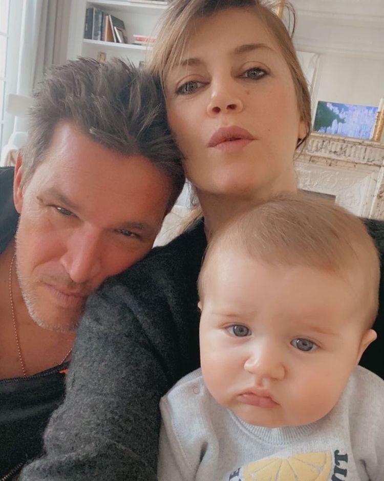 Benjamin Castaldi avec Aurore Aleman et leur fils Gabriel