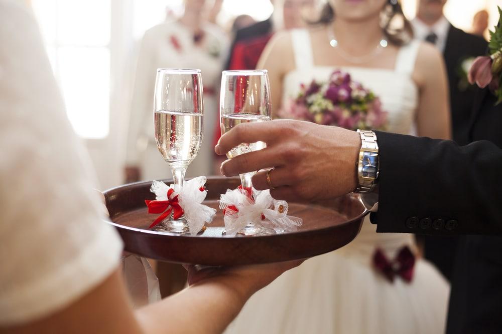 la réception d'un mariage