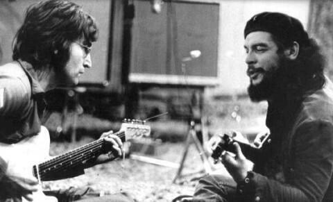 John Lennon avec Che Guevara photomontage