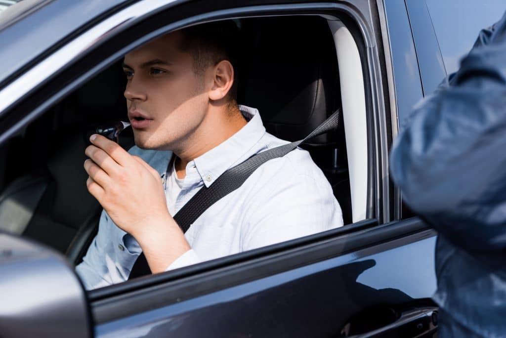 un chauffeur contrôlé par la police