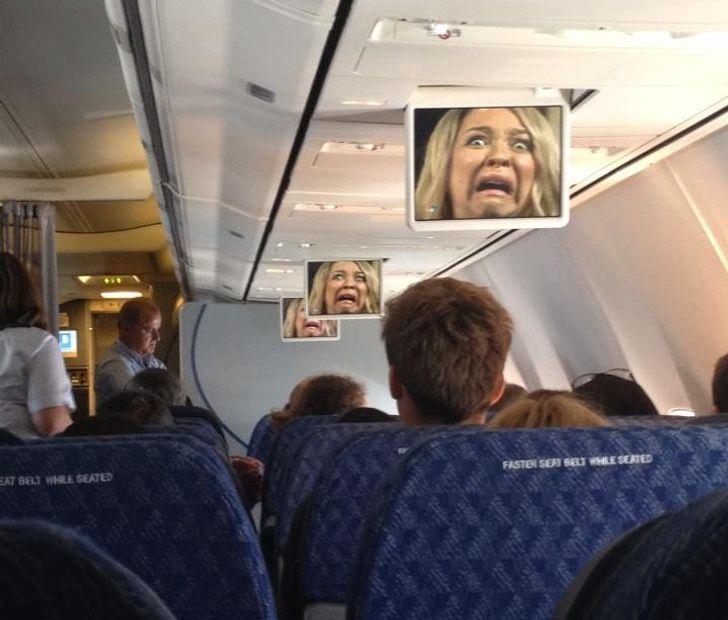 Un film projeté dans un avion