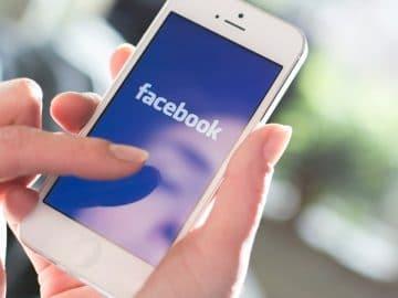 Facebook sur un iphone