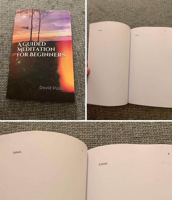 Un achat trompeur sur internet : un livre de méditation