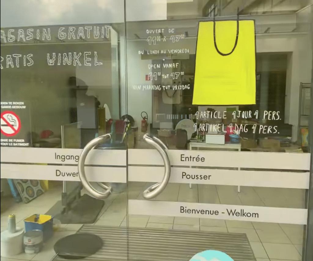 La boutique gratuite du Circularium de Bruxelles