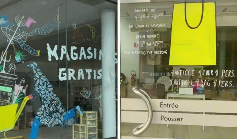 Belgique : Le magasin Gratuit vous permet d'emporter vos achats sans payer, en échange d'un «merci» !