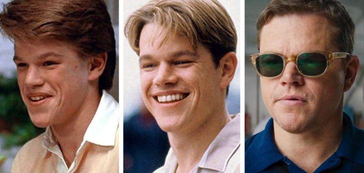 l'évolution physique de Matt Damon