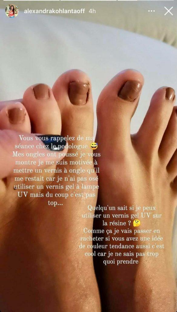Les nouveaux ongles d'Alexandra de Koh Lanta