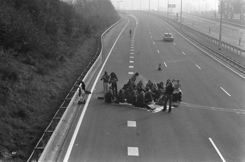 photo mensongère hippies américain 1973
