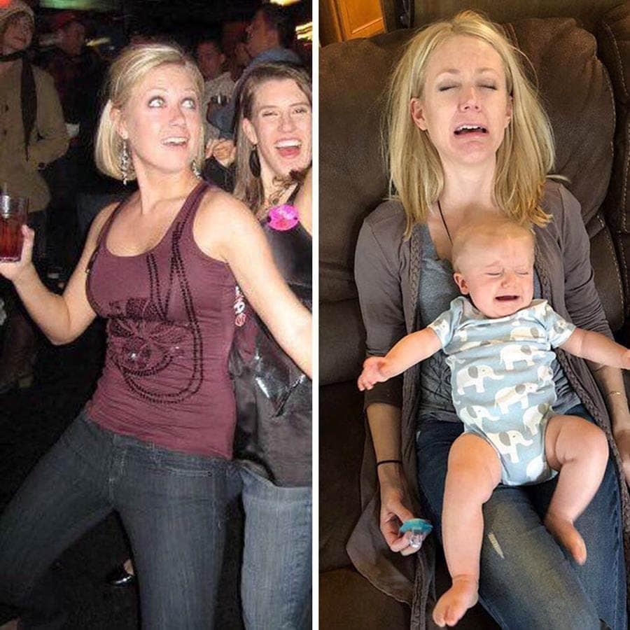 une maman avant et après son premier enfant