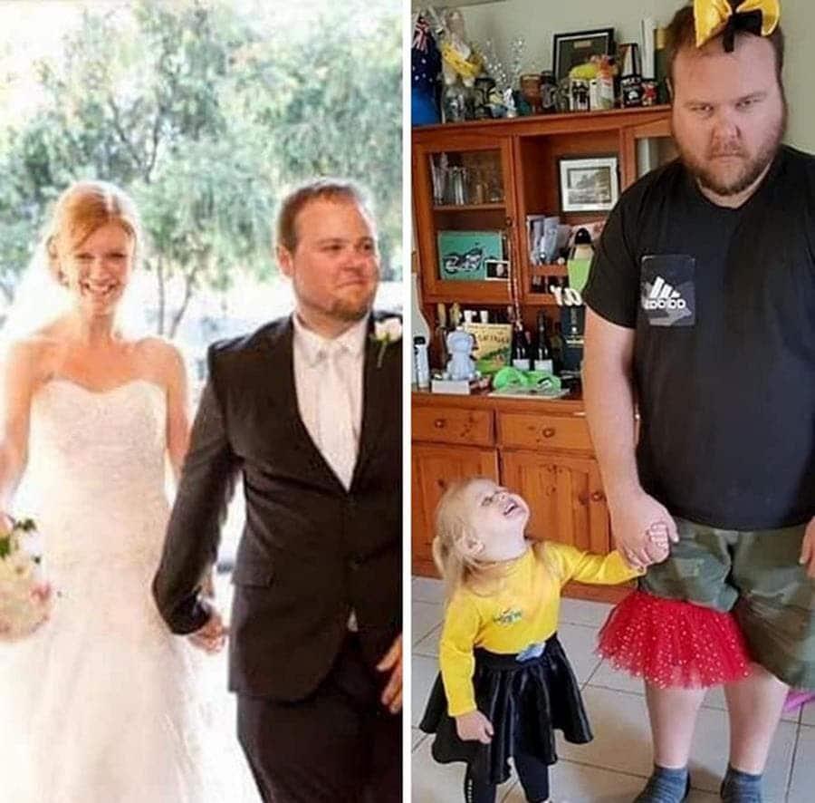 un papa avant et après son premier enfant