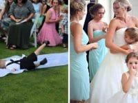 Des photos de mariage marrantes.