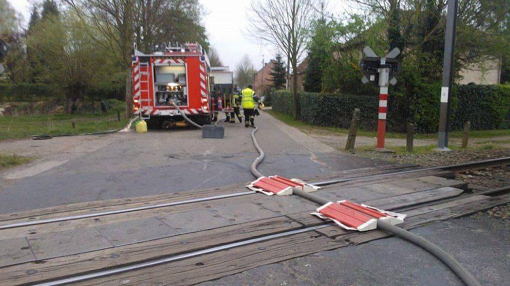pompier déraille train belgique fake 2014