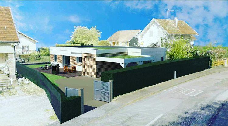 Le projet 3D d'une maison avec des conteneurs