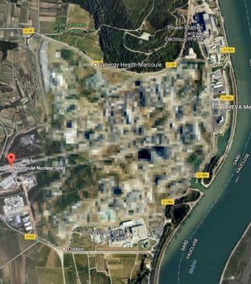 Le site nucléaire de Marcoule, Bagnols sur Cèze Gard