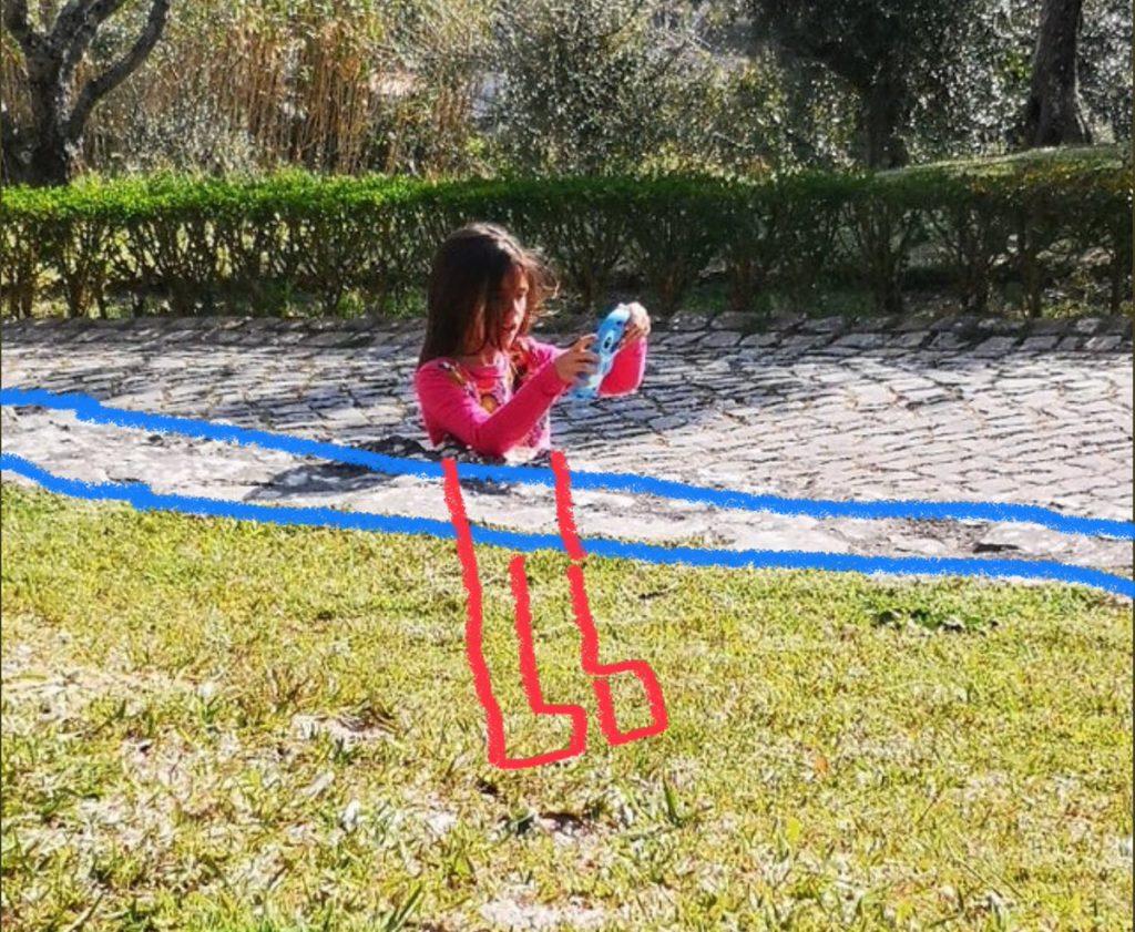 Solution à l'illusion d'optique de la fille sans jambes