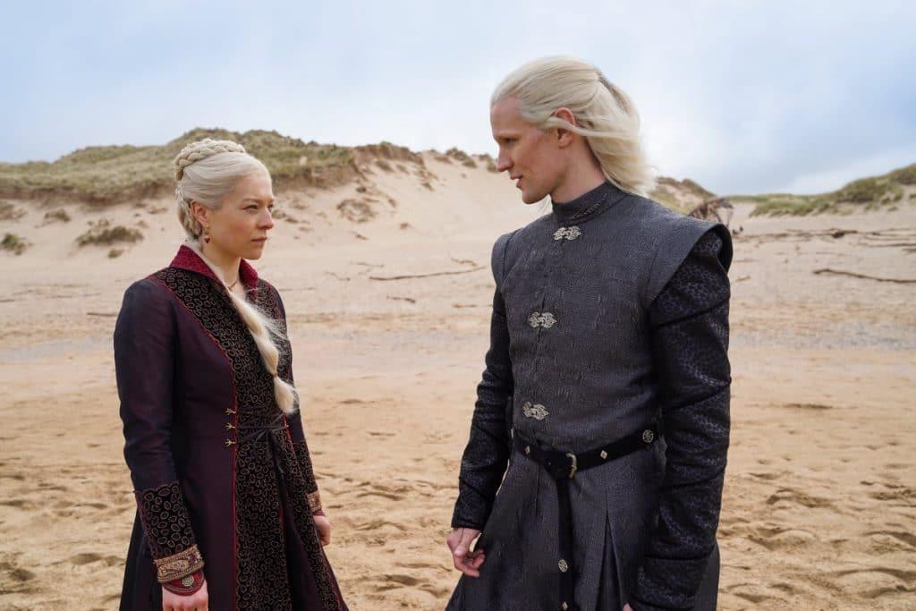 Princess Rhaenyra Targaryen et Prince Daemon Targaryen house of dragon