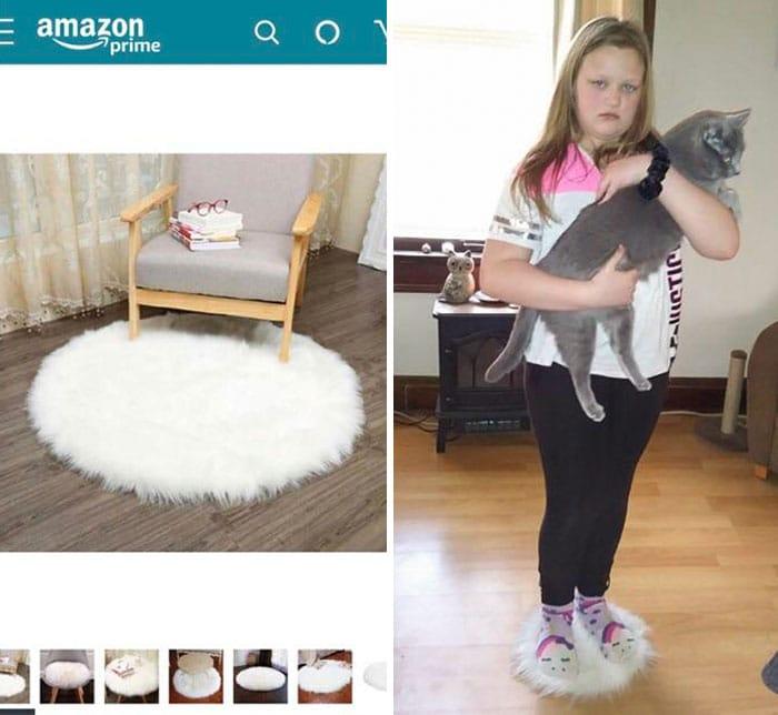 Un achat trompeur sur internet : un tapis trop petit