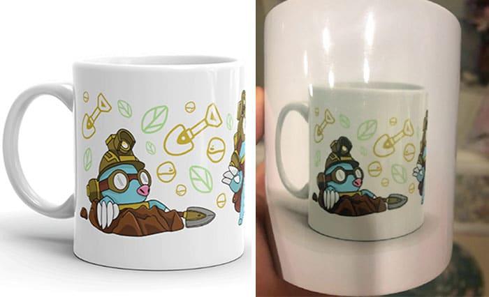 Un achat trompeur sur internet : une tasse