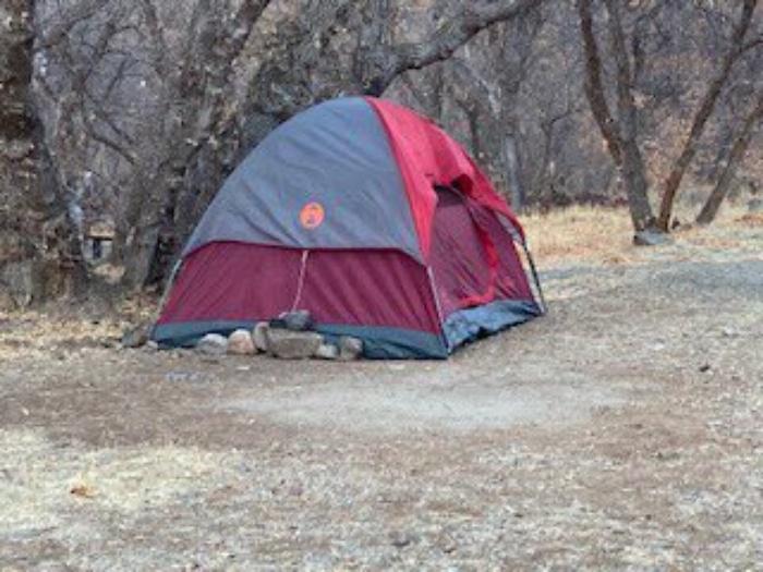 la tente de la personne disparue dans l'Utah, aux États-Unis