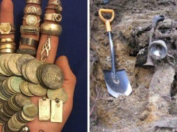 des trésors trouvés avec un détecteur à métaux