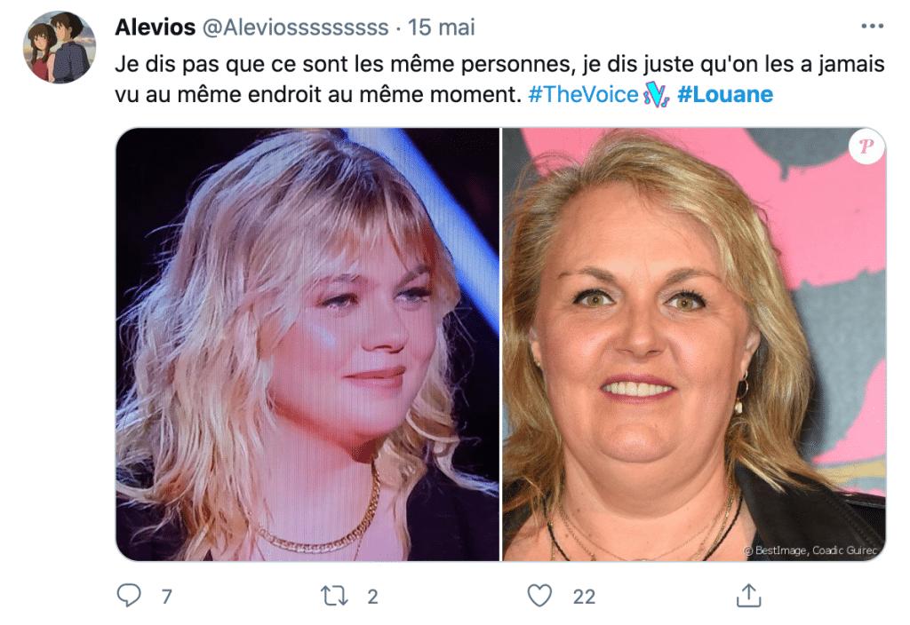 Un tweet sur le poids de Louane dans The Voice
