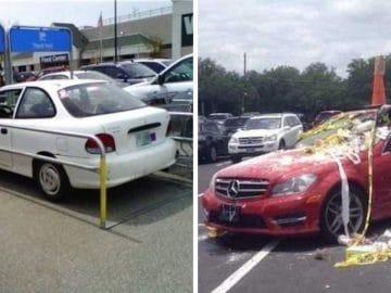 Des voitures très mal stationnées