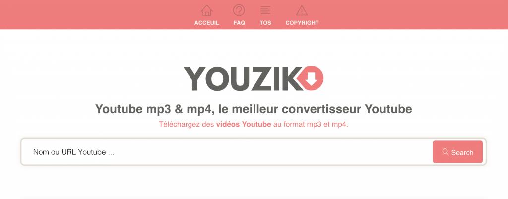Youzik convertisseur youtube