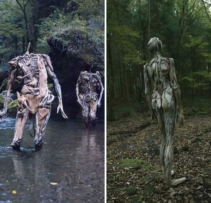 Les sculptures sur bois de Nagato Iwasaki