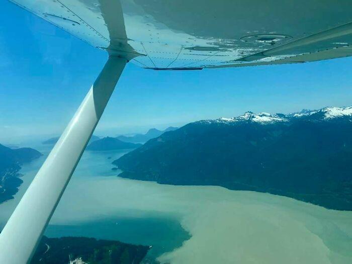 la vue depuis un avion
