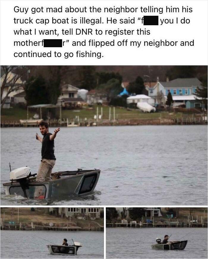 un bateau fait avec le toit d'une voiture