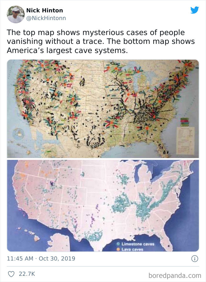une carte des États-Unis