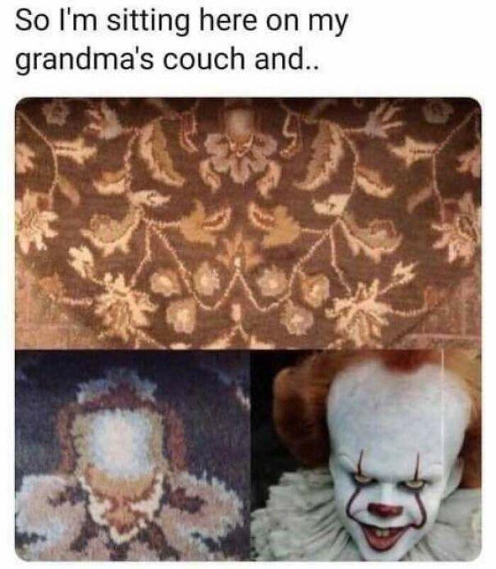 une impression avec le clown Il