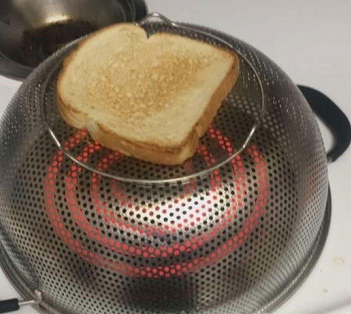 un grille-pain improvisé
