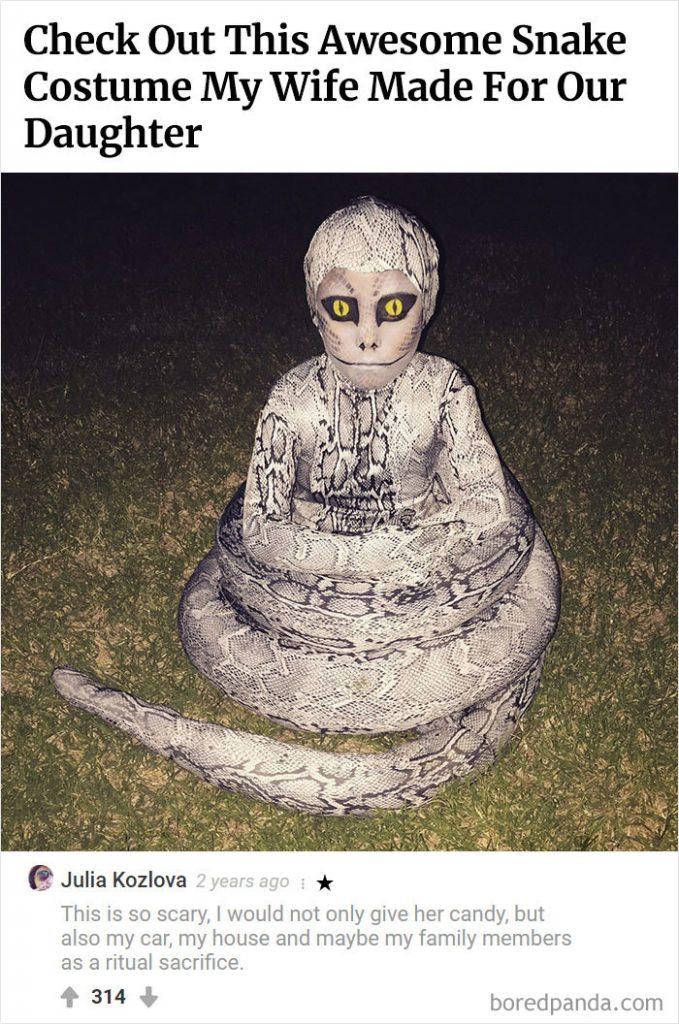 un costume de python