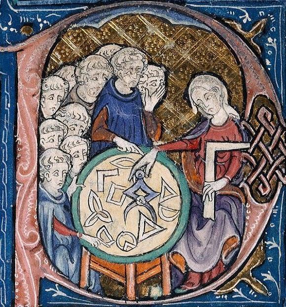 une vieille illustration du 14ème siècle