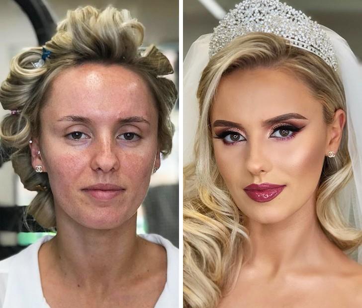 Une mariée maquillée