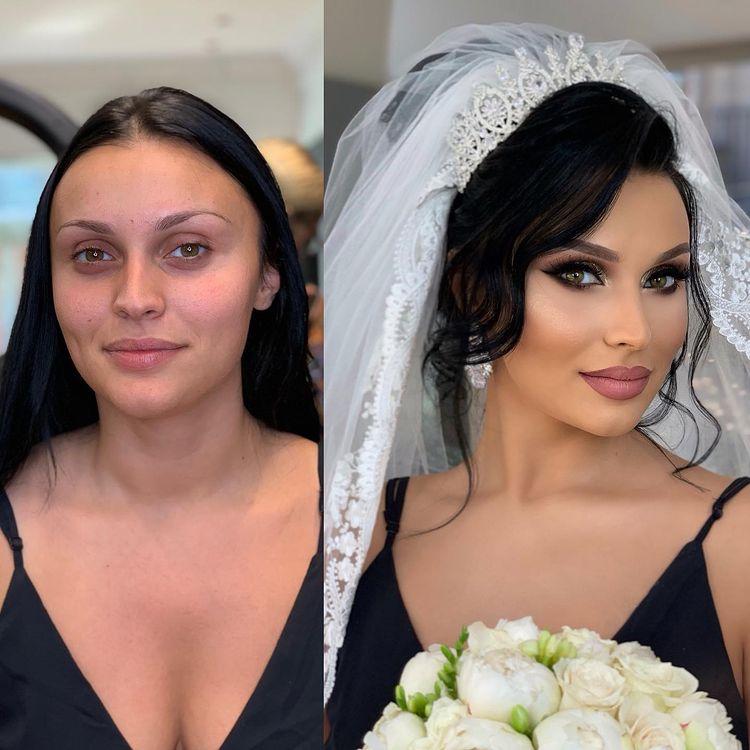 Une mariée maquillée par Arber Bytyqi