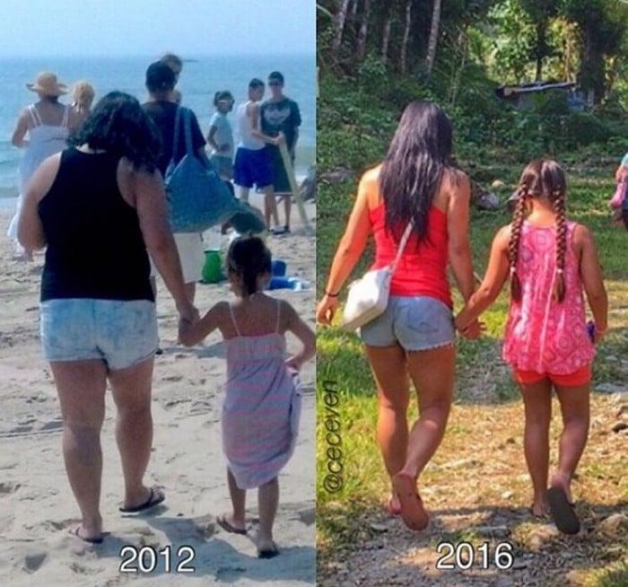 Christine Carlos et sa fille