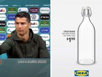 Cristiano Ronaldo - Bouteille IKEA