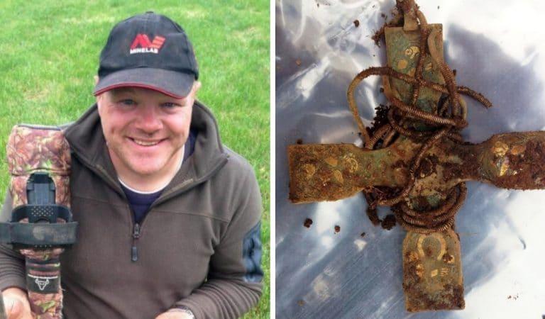 Son détecteur à métaux lui permet de découvrir le trésor viking le plus important d'Ecosse