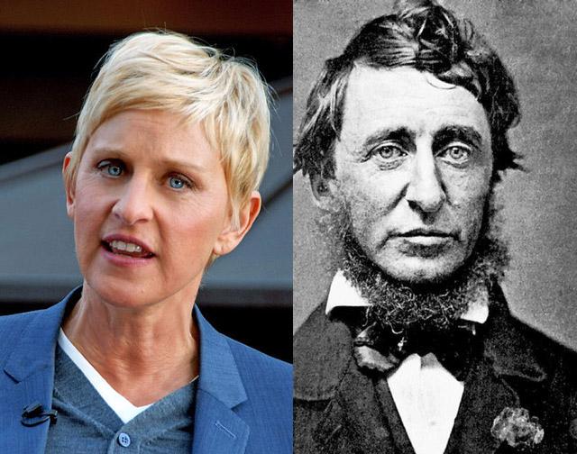 Ellen DeGeneres et Henry David Thoreau