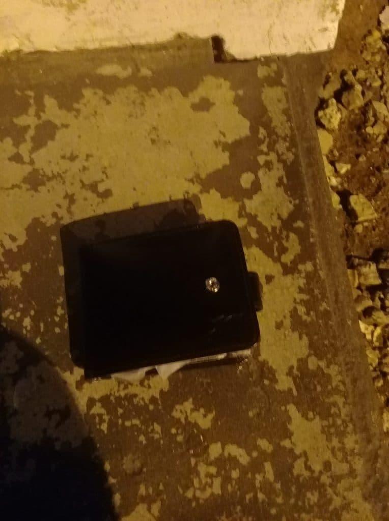 Le portefeuille trouvé par José Cleomar Domingues
