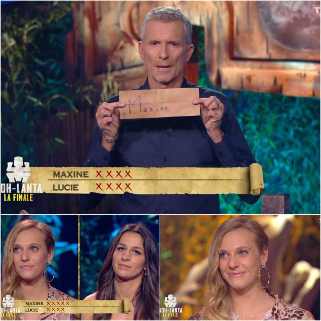 Koh-Lanta, les Armes Secrètes, Maxine remporte la victoire face à Lucie