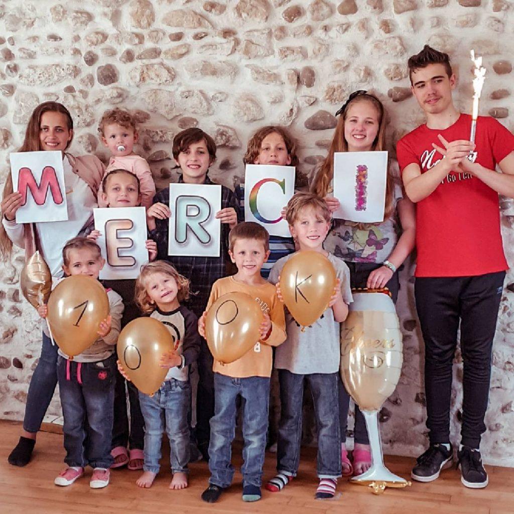 Les 11 enfants de Cindy et Sébastien