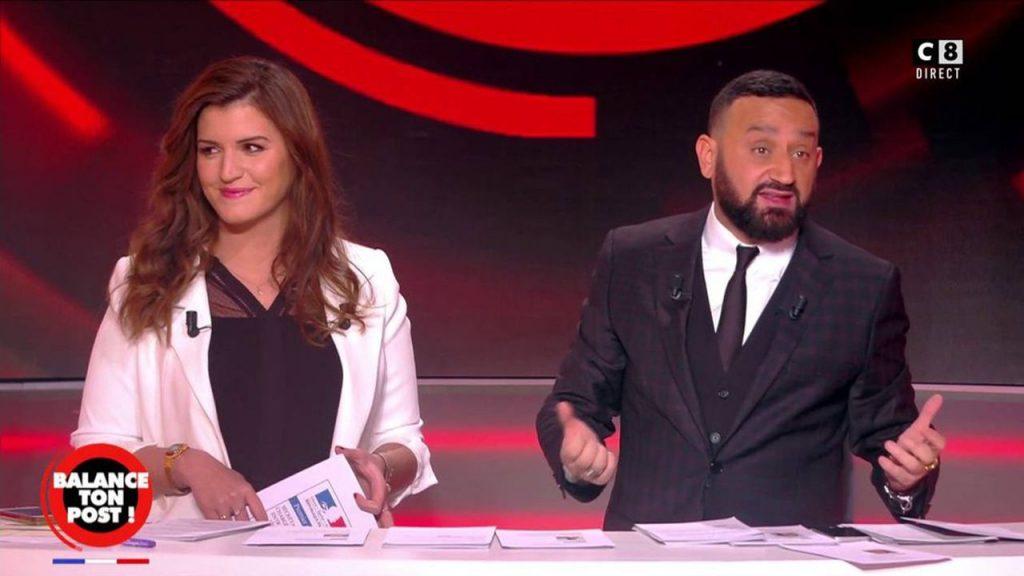 Marlène Schiappa, membre du gouvernement et Cyril Hanouna dans Balance en poste