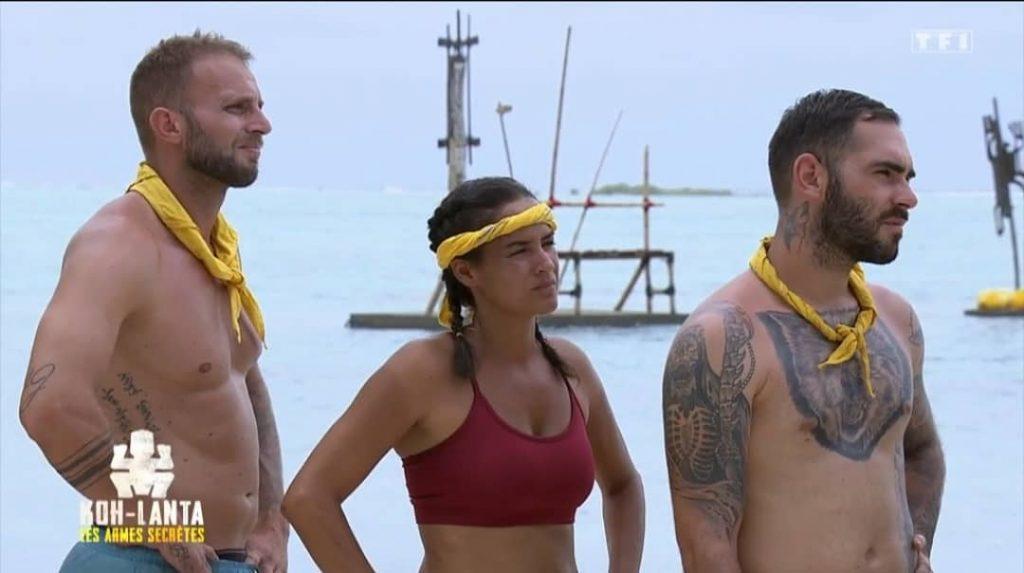 Thomas, Myriam et Mathieu, trio de l'équipe jaune