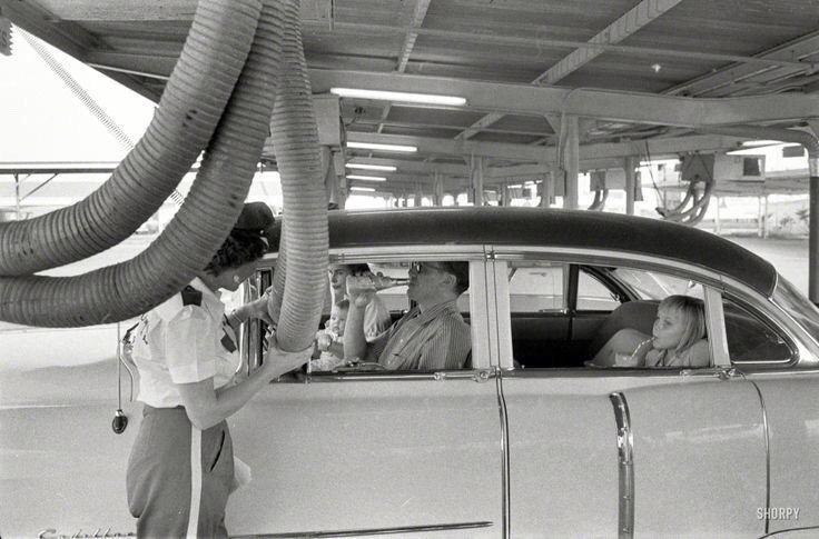 Climatisation dans une voiture en 1957