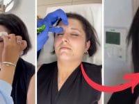 Amandine Pellissard reçoit des injections