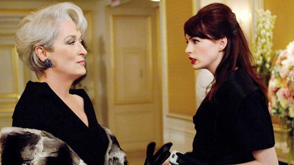 Anne Hathaway et Meryl Streep dans Le Diable s'habille en Prada