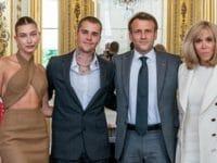 Justin Bieber et Emmanuel Macron